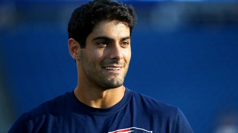 Jimmy Garoppolo: must lose because he's beautiful