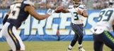 Russell Wilson 'not concerned' with preseason struggles on offense