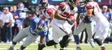 Falcons RB Tevin Coleman carted off, questionable to return vs. Giants