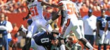 Swarmed and confused: Browns punish rookie QB Mariota in win