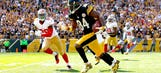 Steelers' Antonio Brown fakes out three 49ers defenders with spin move