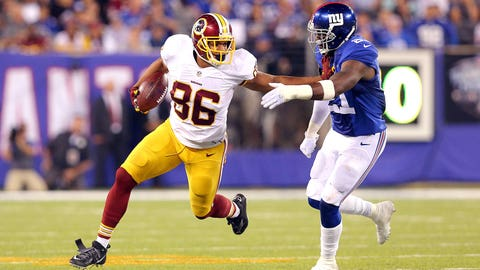 Jordan Reed, TE, Redskins (concussion): Out