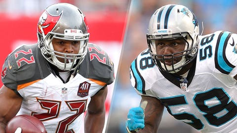 2. Panthers at Buccaneers: Panthers run defense vs Buccaneers running backs