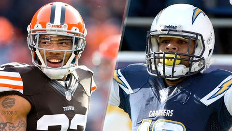 3. Browns at Chargers: Joe Haden vs. Keenan Allen