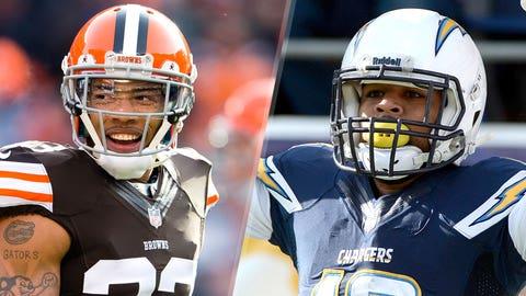 3. Browns at Chargers: Joe Haden vs. Keenan Allen