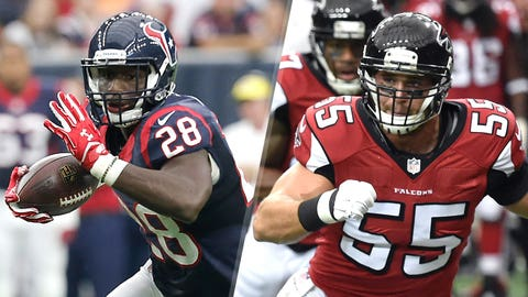 6. Texans at Falcons: Alfred Blue vs. Falcons linebackers