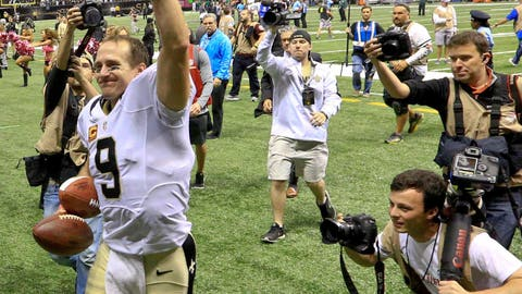 Drew Brees returns from injury, and returns to old form