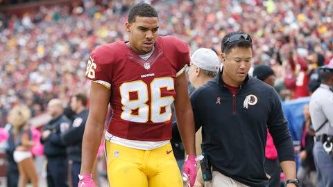 Jordan Reed, TE, Redskins (shoulder): Out