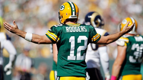 Aaron Rodgers had three turnovers at home