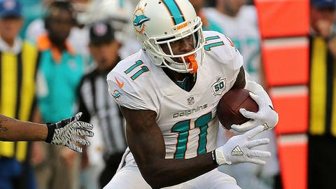 Devante Parker, WR, Dolphins (back): Active
