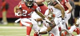 Devonta Freeman's lead as NFL's top rusher narrowed on Sunday