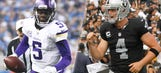 Bridgewater vs. Carr: Second-year QBs have very different strengths