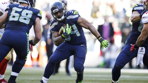Seattle running back Thomas Rawls
