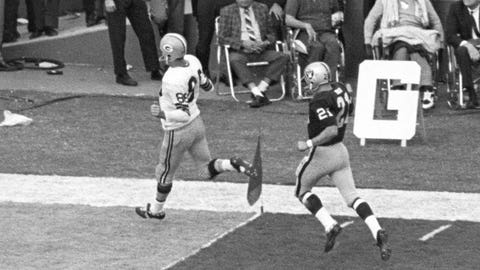 Super Bowl II: Bart Starr's 62-yard touchdown pass to Boyd Dowler