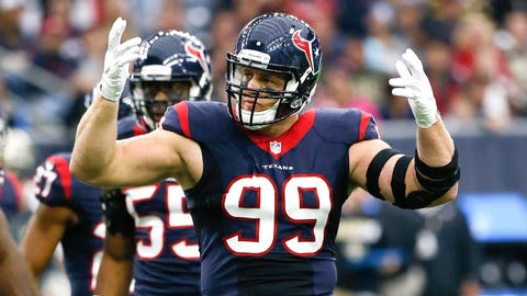 Defensive player of the year: Houston defensive end J.J. Watt