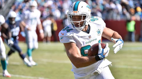 Jordan Cameron, TE, Dolphins (concussion): Out
