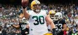 WATCH: Packers FB Kuhn trucks Raiders defender on way to 5-yard TD