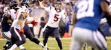 Brandon Weeden pressed into QB service for Texans against Colts