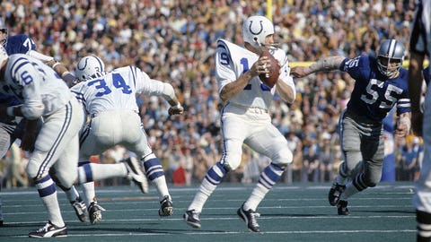 Super Bowl V: Unitas to Mackey