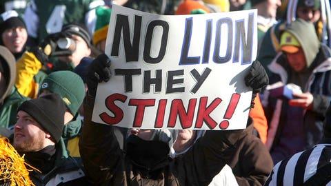 2008 season: Green Bay 31, Detroit 21