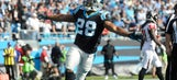 Jonathan Stewart, Jared Allen practice with Panthers