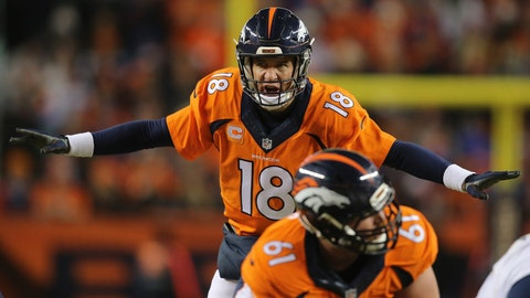 Yards per attempt: Peyton Manning 6.8, Rodgers 6.7