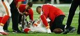 Chiefs' Jeremy Maclin in tears on sideline after suffering knee injury
