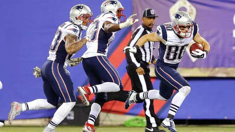 2. Danny Amendola's punt return spoiled by teammate's trip
