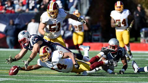 6. Patriots (onside) kick Redskins while they're down
