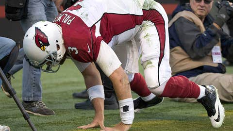 6. Carson Palmer's not-so-graceful spike