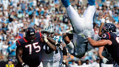 Cam Newton goes 'SuperCam' on the Houston Texans