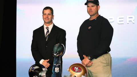 John and Jim Harbaugh, Baltimore vs. San Francisco, Super Bowl XLVII