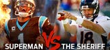 Superman vs. The Sheriff: Cam Newton vs. Peyton Manning Super Bowl 50 tale-of-the-tape