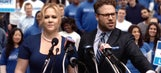 Amy Schumer and Seth Rogen's Super Bowl 50 ad is here to save America