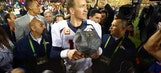 Papa John swoops in to congratulate Peyton Manning on Super Bowl win