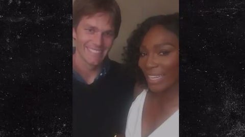 Serena Williams with Tom Brady