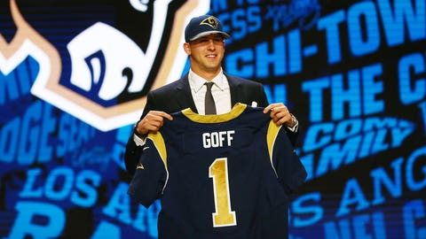Rams trade up to No. 1 overall to take Jared Goff