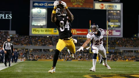 Wide receiver: Antonio Brown, Pittsburgh Steelers