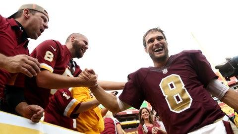 Washington Redskins (4-3-1): 5 covers ATS