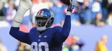 Jason Pierre-Paul proves he can grip a football again with his injured hand