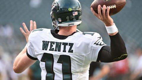 Carson Wentz is facing a reeling defense