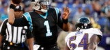 Newton sharp in only series as Panthers lose to Ravens 22-19