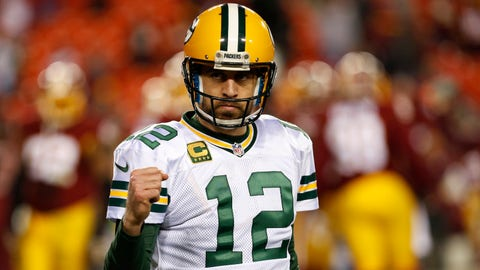 Most passing yards: QB Aaron Rodgers, Packers (10/1)