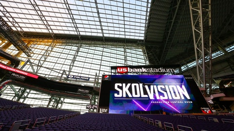 Two of the best-positioned LED video boards in the NFL
