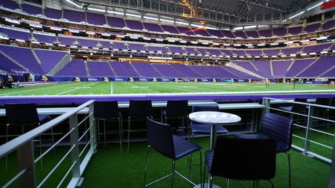 Turf suites that put fans incredibly close to the action