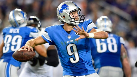 Detroit Lions at Indianapolis Colts 4:25 p.m. on FOX (716)