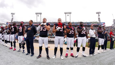 """Houston Texans: """"Standing for the anthem"""""""