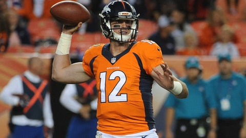 Paxton Lynch will be Denver's starting QB by Week 6