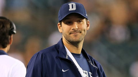 Tony Romo, QB, Cowboys (back)