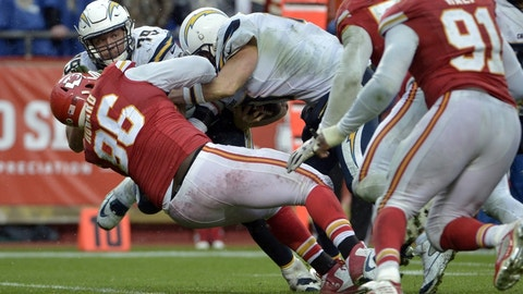 Chargers (+7) vs. CHIEFS [Over/under: 44.5]